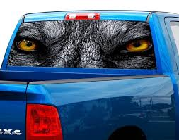 Product Wolf Eyes Wolfs Rear Window Graphic Decal Sticker Truck Suv