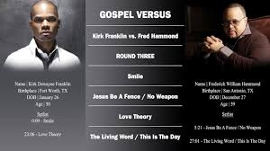 Kirk Franklin Verzuz Fred Hammond Rd 3 Smile Jesus Be A Fence No Weapon Love Theory Youtube