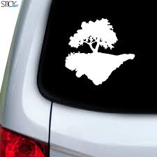 Floating Land Tree Decal For Car Window Stickany
