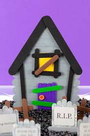 Popsicle Stick Haunted House Fireflies And Mud Pies