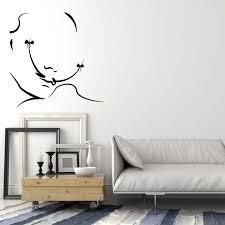 Vinyl Wall Decal Abstract Salvador Dali Mustache Bow Artist Art Sticke Wallstickers4you