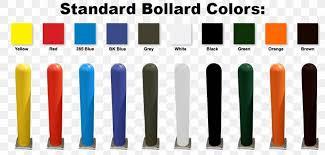 bollard plastic paint post color chart