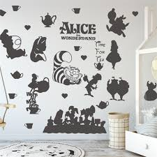 Mad Hatter Disney Decal Removable Wall Sticker Home Decor Art Alice Bedroom Kids