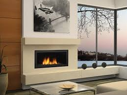 modern contemporary gas fireplace
