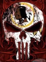 Washington Redskins Punisher Skull Car Window Stickers
