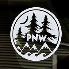 Pnw Decal Round Vinyl Window Laptop Water Proof Water Bottle Sticker Graphic 4 White Mountain Ocean Pine Tree Moon Buy Products Online With Ubuy Jordan In Affordable Prices B07v7vw327
