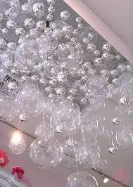 diy bubble chandelier display