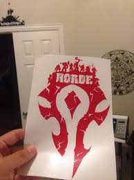 Horde Logo Decal Sticker 8 5 X 5 Horde Army For The Horde For Sale Online