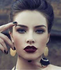contouring dark lips eyebrows