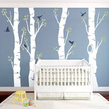 Wide Birch Trees Wall Decal