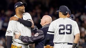 New York Yankees' CC Sabathia hurts shoulder, limps off ALCS field