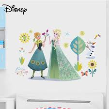 Disney Cartoon Anime Decals Frozen Romance Boys And Girls Room Decoration Stickers Creative Pvc Stickers Stickers Aliexpress
