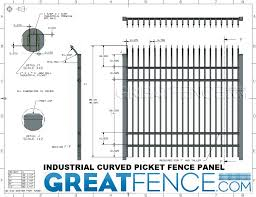 Aluminum Curved Picket Industrial Security Fence Panels Trim To Fit Great Fence