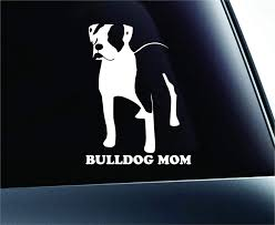 Amazon Com Expressdecor American Bulldog Mom Dog Symbol Decal Funny Car Truck Sticker Window White Automotive