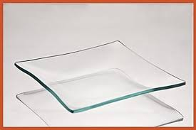 5 inch square clear glass plate 3 16