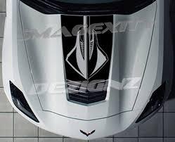 2014 2017 Corvette C7 Stingray Graphic Hood Decal Vinyl 2015 Etsy