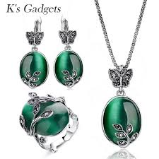 brand vintage green opal jewelry