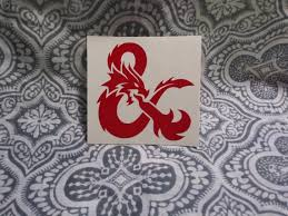 Dnd D D Ampersand Dungeons Dragons Vinyl Decal Sticker Etsy