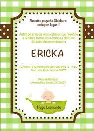 Invitacion Baby Shower Ericka By Jenny Invitaciones Tarjeta De