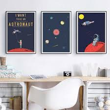 Galaxy Art Prints Space Poster Astronaut Canvas Painting Solar System Outer Space Wall Art Poster Kids Boys Room Decoration Painting Calligraphy Aliexpress