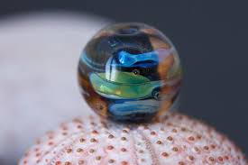 lampwork focal bead for jewelry making