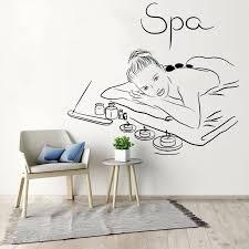Classic Massage Wall Decal Spa Beauty Salon Massage Relax Wall Stickers Vinyl Art Mural For Beauty Salon Decor Accessories Q71 Wall Stickers Aliexpress