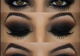 smokey eye makeup for blue eyes brown