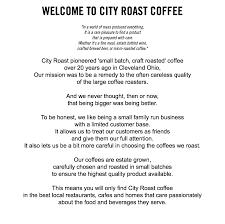 home city roast coffee