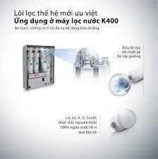 Máy lọc nước AO Smith K400 thương hiệu Mỹ chính hãng, giá tốt nhất 2020