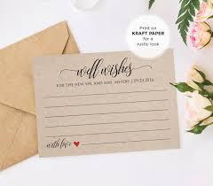 printable wedding advice card template