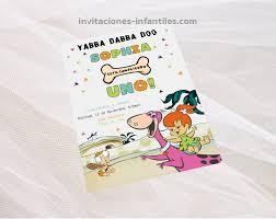 Hermosa Invitacion De Pebbles Picapiedras Flintstones Los