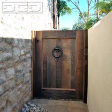 garden gate in reclaimed barn wood