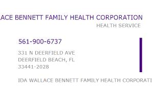 1417085697 NPI Number | IDA WALLACE BENNETT FAMILY HEALTH CORPORATION |  DEERFIELD BEACH, FL | NPI Registry | Medical Coding Library |  www.HIPAASpace.com © 2020