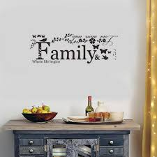 Family Wall Decals Vinyl Wall Decal Art Saying Home Decor Sticker 22 4 X 7 9 For Living Room Bedroom Wall Decor Walmart Com Walmart Com