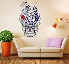 20 Best Skull Wall Decal Skull Tattoo Wall Stickers Ideas Wall Stickers Sugar Skull Tattoos Wall Sticker