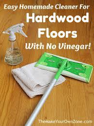no vinegar cleaner for hardwood floors