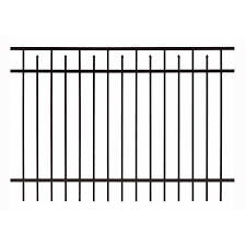 Gilpin Baltimore Standard 5 Ft H X 6 Ft W Black Aluminum Flat Top Decorative Fence Panel In The Metal Fence Panels Department At Lowes Com