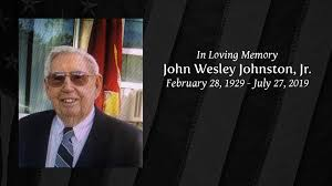 Obituary | John Wesley Johnston, Jr. | Barranco Severna Park Funeral Home &  Cremation Care, P.A.
