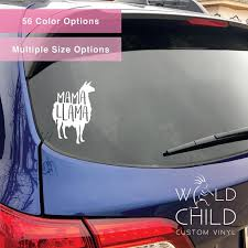 Mama Llama Car Decal Mama Llama Car Sticker Car Vinyl Window Sticker Window Decal Wish