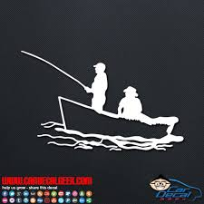 Fishing In A Boat Car Window Decal Sticker Fishing Decals