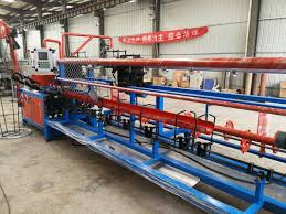 Fully Automatic Chain Link Fence Weaving Machine Double Wire Feeding