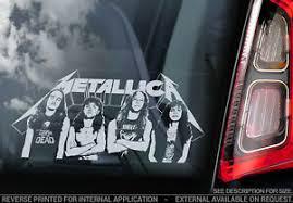 Metallica Car Window Sticker Band Decal Laptop Rock Music Vinyl Sign Art V04 Ebay