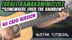 Israel Kamakawiwo'ole - Somewhere Over The Rainbow - Guitar Lesson ...