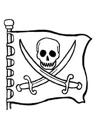 Kids N Fun Kleurplaat Piraten Piraten Vlag Met Doodshoofd