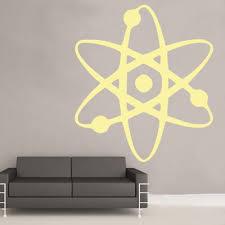 Atom Vinyl Wall Sticker Art Science Kids Room Decor Space Physics Home Garden Decor Decals Stickers Vinyl Art