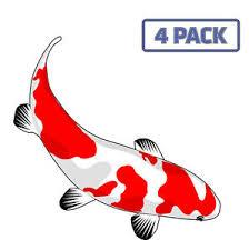 Red Koi Fish Aquarium Fishing Fish Sticker Vinyl Decal 1 1359 Ebay