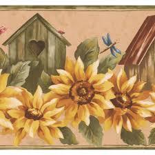 retro art yellow sunflower and