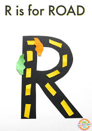 r is for road letter r craft