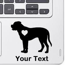 Personalized English Mastiff Decal Top Pet Gifts