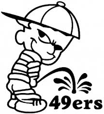 Pee On 49ers Car Or Truck Window Decal Sticker Or Wall Art All Time Auto Graphics